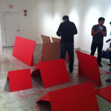 Display Furniture Being Painted