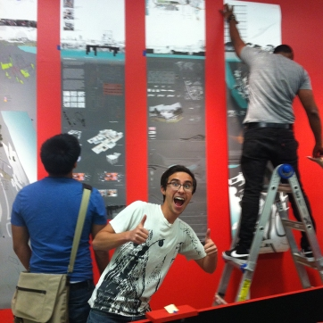 Students Hanging Project Posters