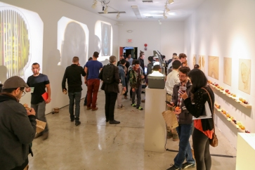 """from """"Stack and gather"""" by Greenmeme, opening night."""