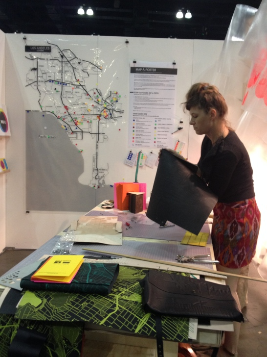 Boja assembling the map-a-porter of Hollywood ordered by a lovely customer at Dwell on Design!