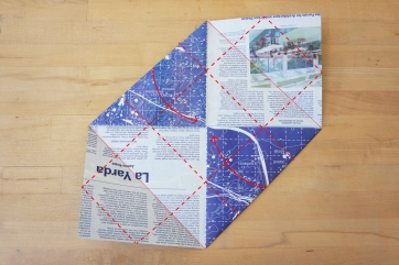 Step 6: Fold sides to the center