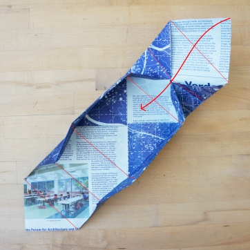 Step 8: Fold flap to center