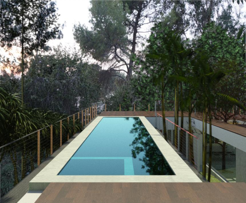 View of pool deck-option 2